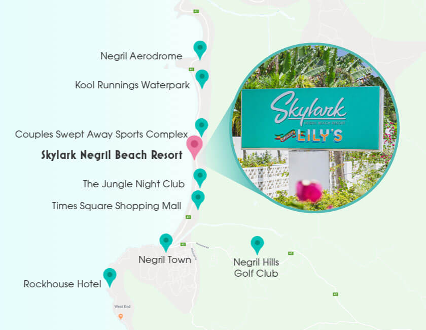 skylark negril location map