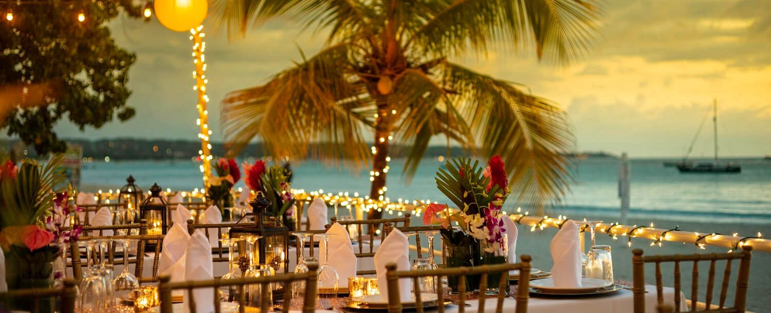 Skylark Negril Wedding Tables