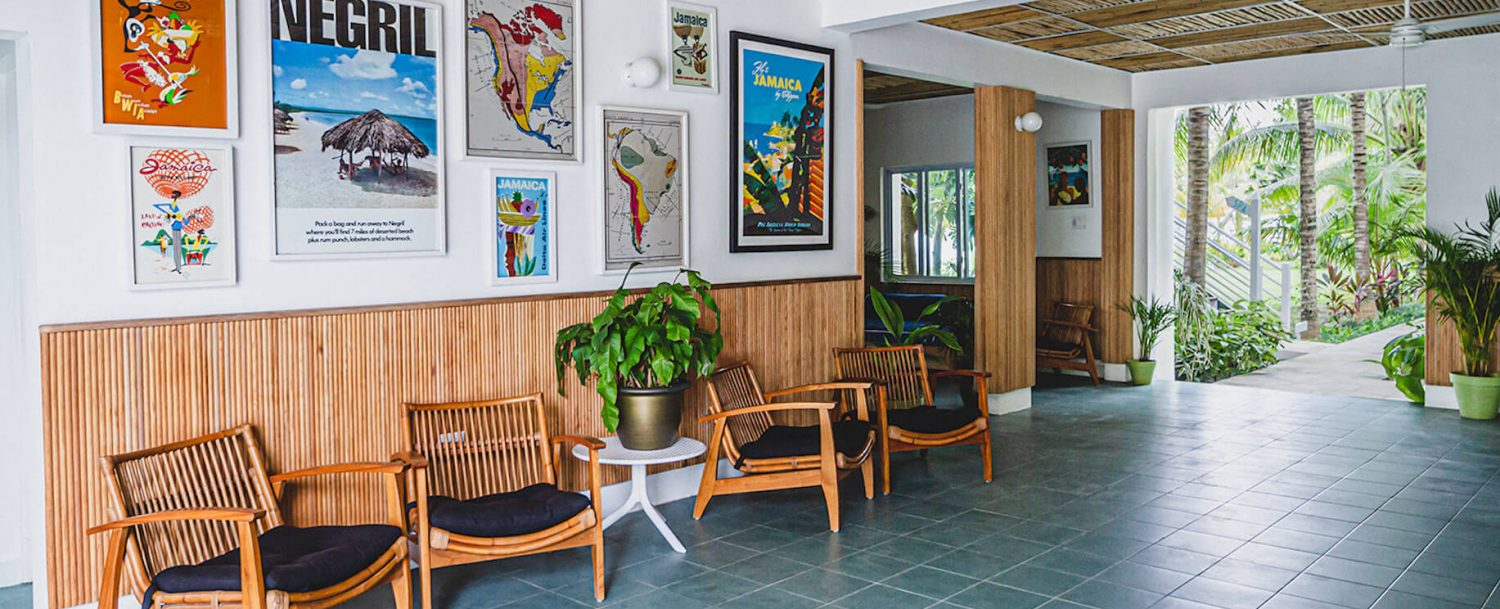 Skylark Negril Common Area with Jamaica Maps
