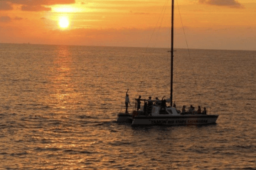 boat during a Sunset Catamaran Cruise in Jamaica