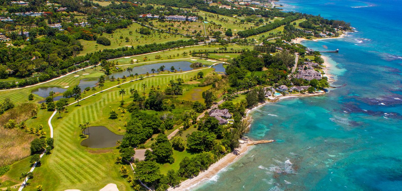 above shot of Golf in Negril, Jamaica