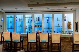 bar at VIP Lounge at Montego Bay Airport